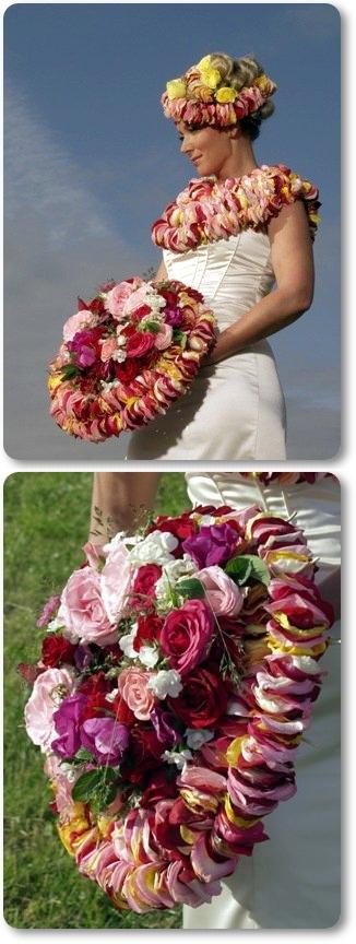 annorlunda brudbukett rosor, brudbuket rosor i många olika färger