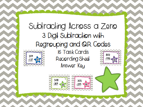 Subtraction With Regrouping Across Zeros Worksheets advanced – Subtracting Across Zero Worksheet