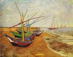 Barcos de Saintes-Maries -1888