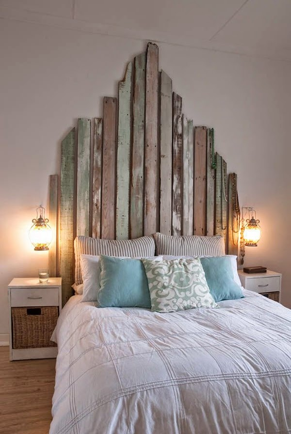 Unusual headboards in vintage look & DIY headboard for the bed linen ideas for exciting wall decors ...