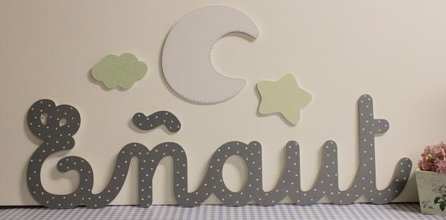 Nombres-letras - infantiles - decoración -personalizados