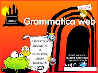 Screeshot del sito Grammatica Web
