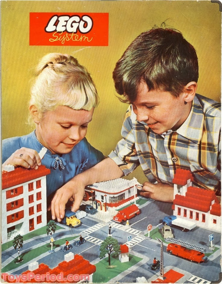 LEGO, toys, kids, children, building blocks, plastic, retro poster, advertisement, city, kids playing, 1960s, 60s, 1970s, 70s, vintage