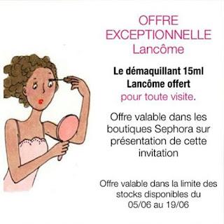 My little app Appli Beauté Féminine Bon Plan Lancôme
