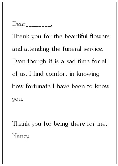 writing sympathy cards