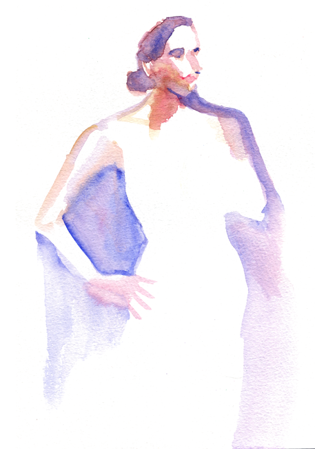"Shiho Nakaza ""Los Angeles"" watercolor figure sketching drawing painting"