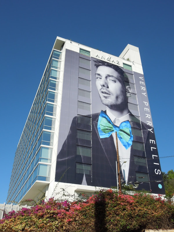 Giant Perry Ellis bow tie billboard 