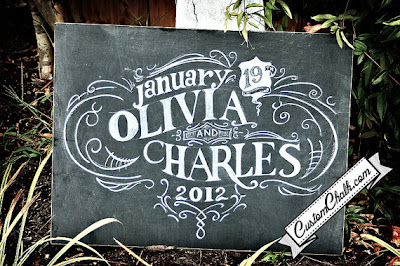 custom chalkboard wedding sign