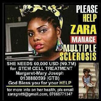 Help Save singer ZARA:She needs (9.7M) for Stem Cell Treatment