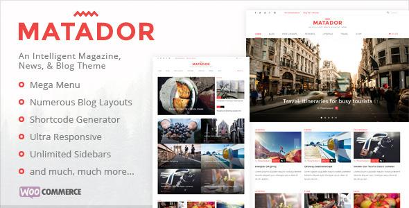download Matador - Responsive News, Blog/Magazine WordPress Theme