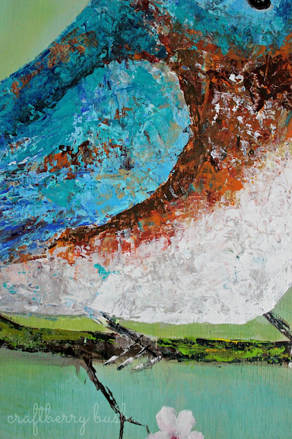 how to use a pallet knife with acrylic