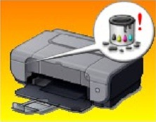absorbedor de tinta lleno
