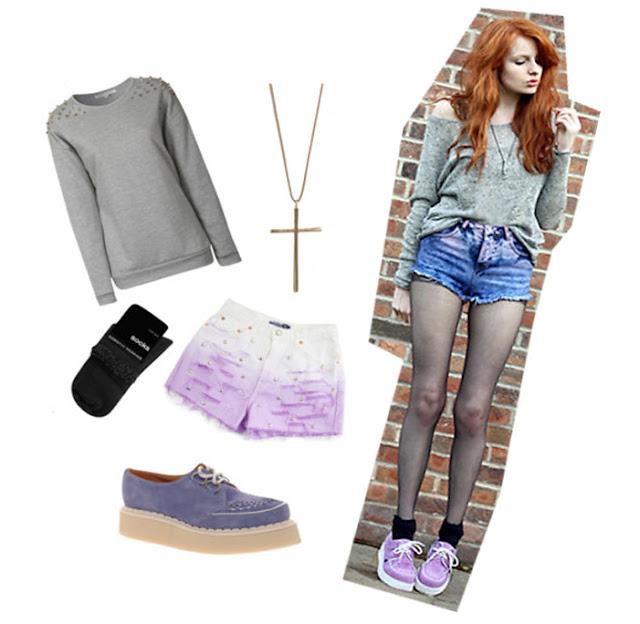 Idee per indossare le scarpe creepers colorate