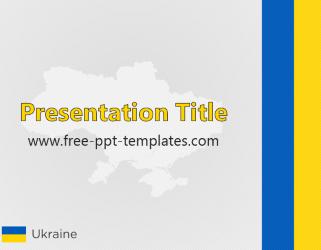 Ukraine Ppt Template Free Powerpoint Templates