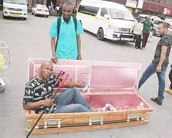 Pastor preaching in Coffin - South Africa