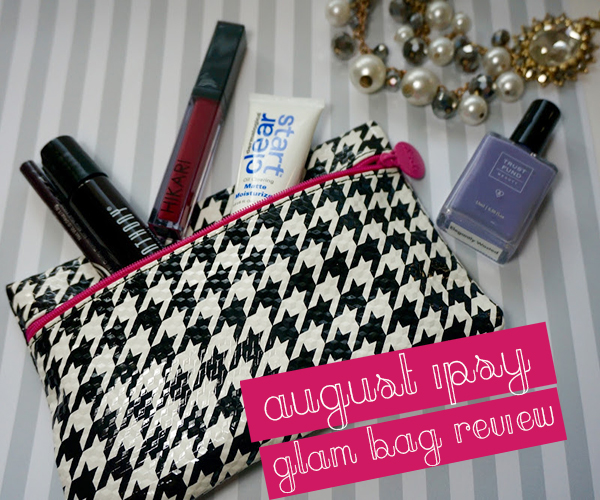 August Ipsy glam bag products and review