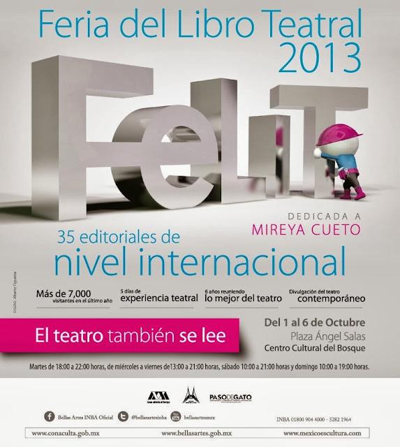 Sexta Feria del Libro Teatral en el Centro Cultural del Bosque