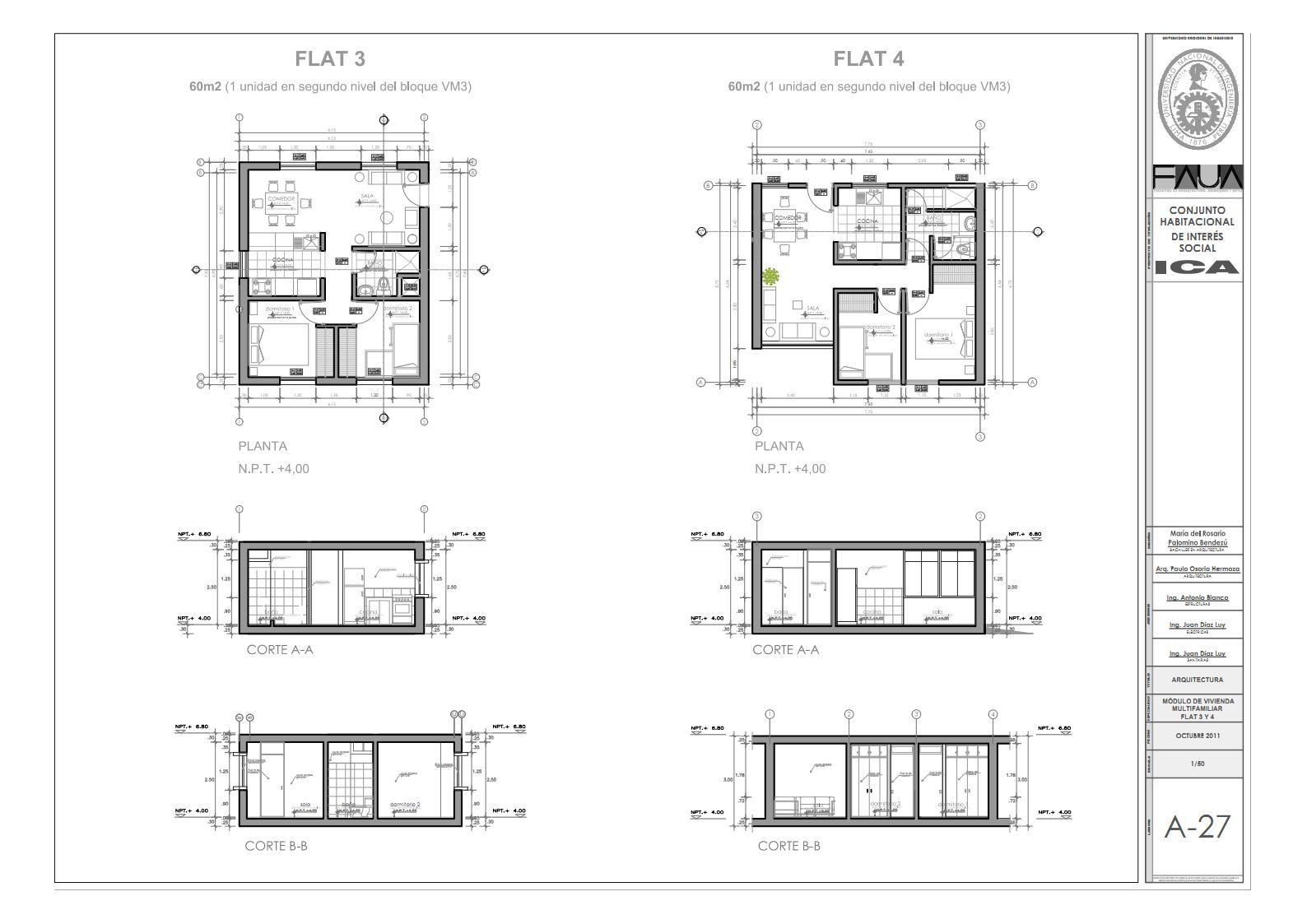 Conjunto habitacional de interés social en Ica: A 23 - A 31 ...