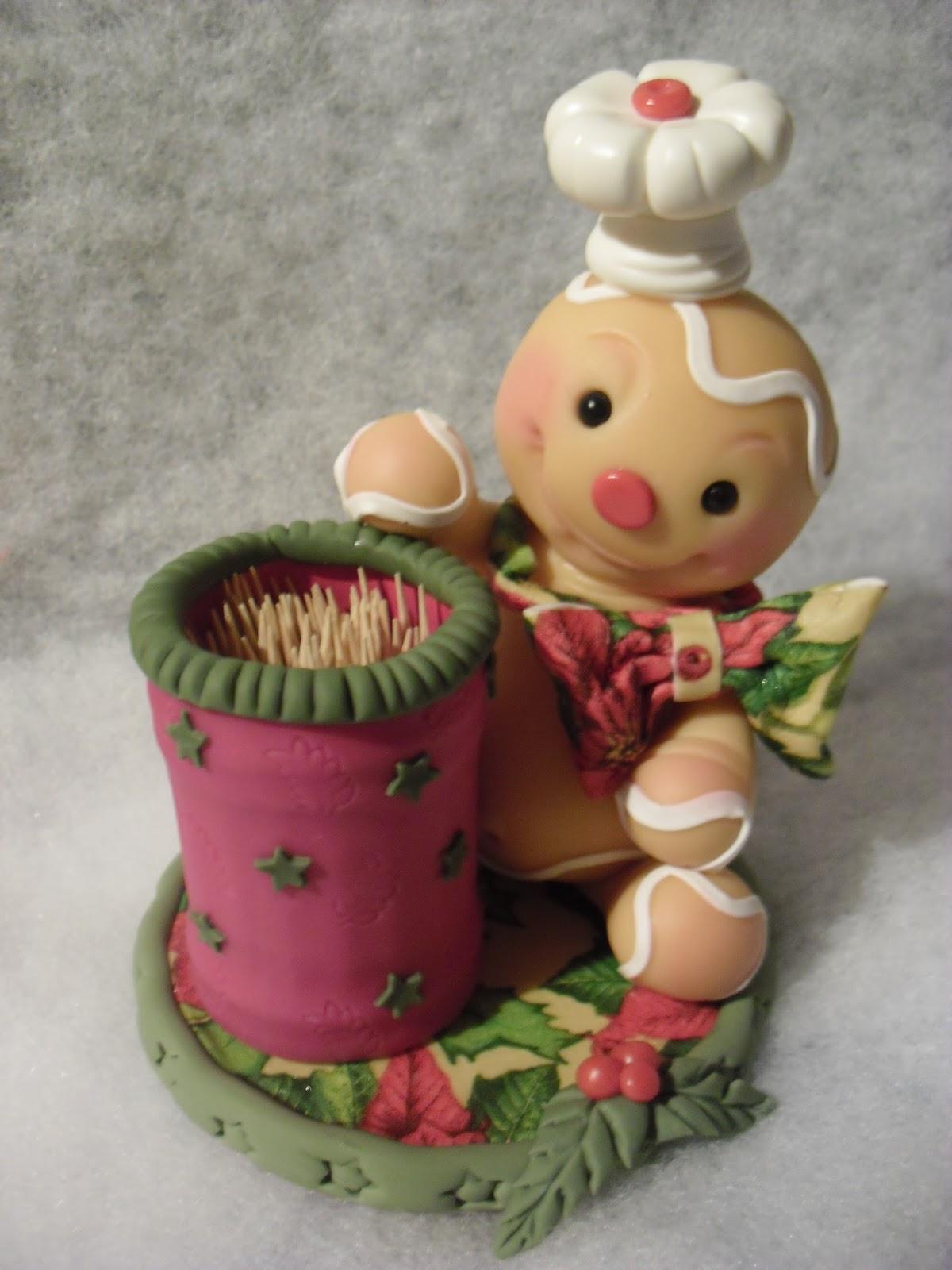 Cyri porcelana fria galleta de jengibre for Adornos navidenos en porcelana fria utilisima