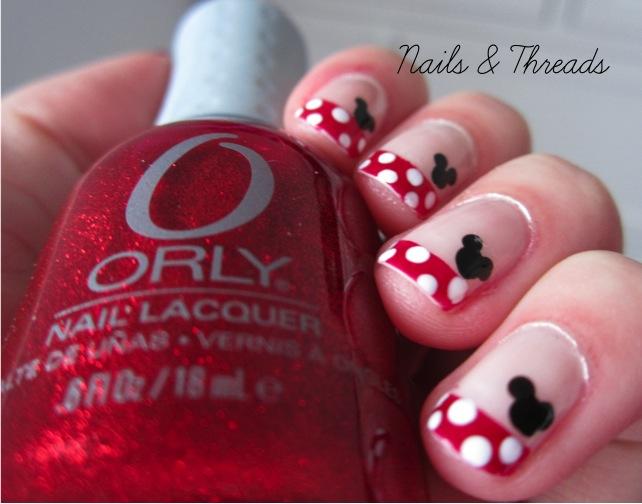 Disney Minnie Mouse Nail Art Tutorial - NailArts Ideas