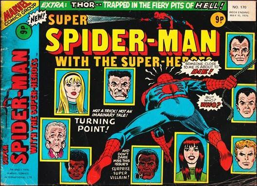 Super Spider-Man with the Super-Heroes #170, the night Gwent Stacy died