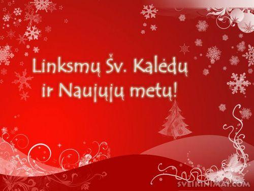 Laimingų Naujųjų Metų! Linksmų Kalėdų! Литовское поздравление с Новым годом и рождеством.