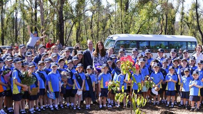 Prince William and Princess Catherine Visit Bushfire Victims in The Blue Mountains