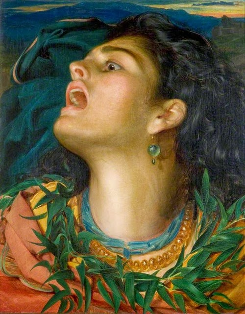 cassandra,Anthony Frederick Sandys,victorian painting