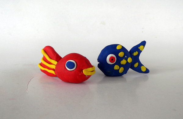 clay ideas, play dough ideas, play dough, crafts, fishes, creatures