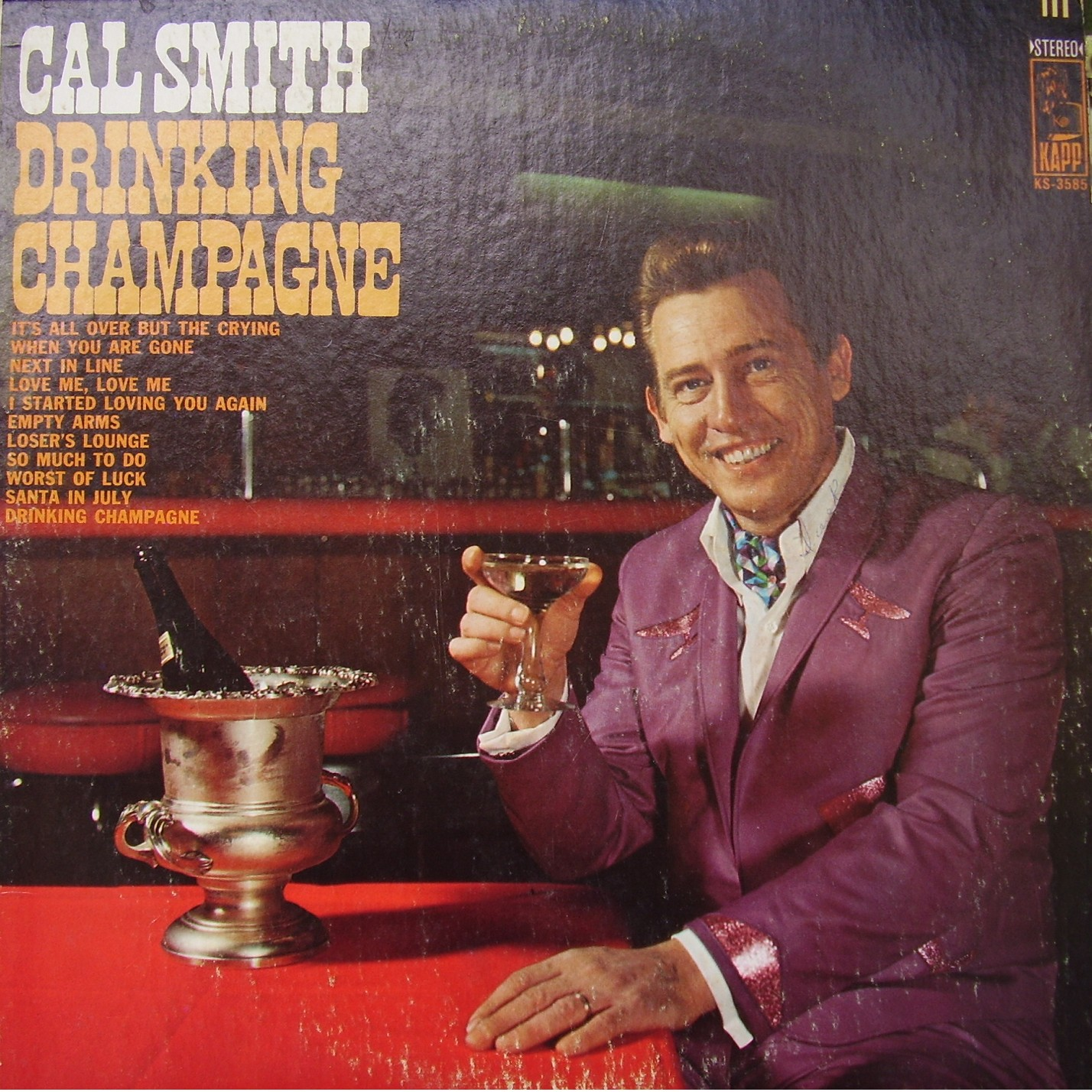 Cal Smith - Drinking Champagne / Honky Tonk Blues