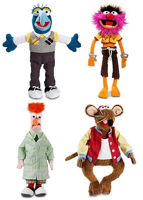 Disney Store Exclusive The Muppets Plush Collection - Gonzo, Animal, Beaker & Rizzo the Rat