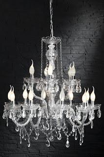 velky zavesny luster z cireho skla, velke lustre, zavesne svietidla