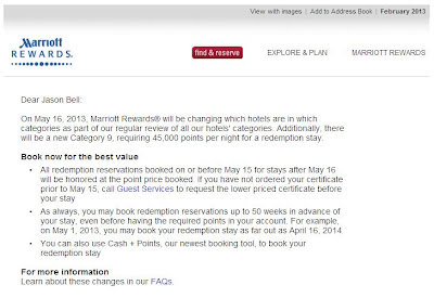 marriott rewards category change email
