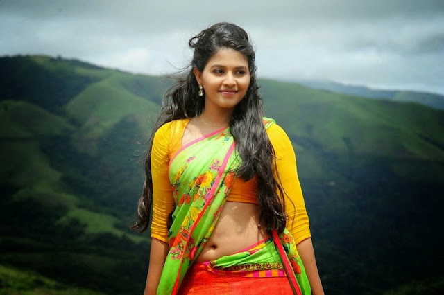 Actress Anjali Saree Below Navel Show Photos