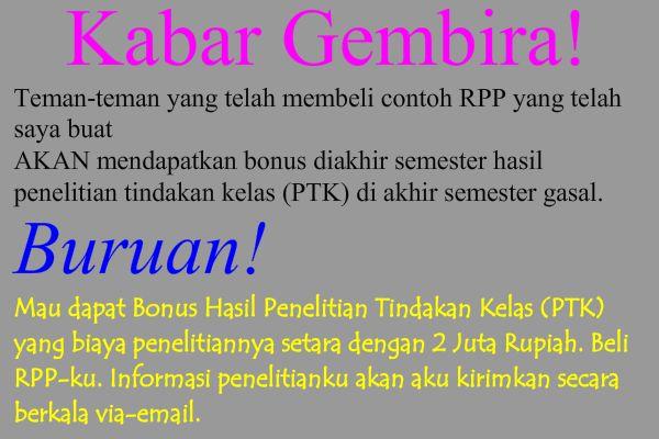 Beli RPP, Bonus Hasil Penelitian Tindakan Kelas (PTK)