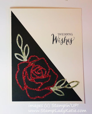 card made with Stampin'UP!'s Rose Wonder Stamps and Rose Garden Die on Glimmer Paper