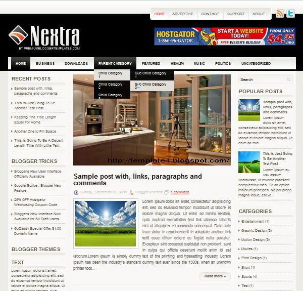 Nextra Blogger Template
