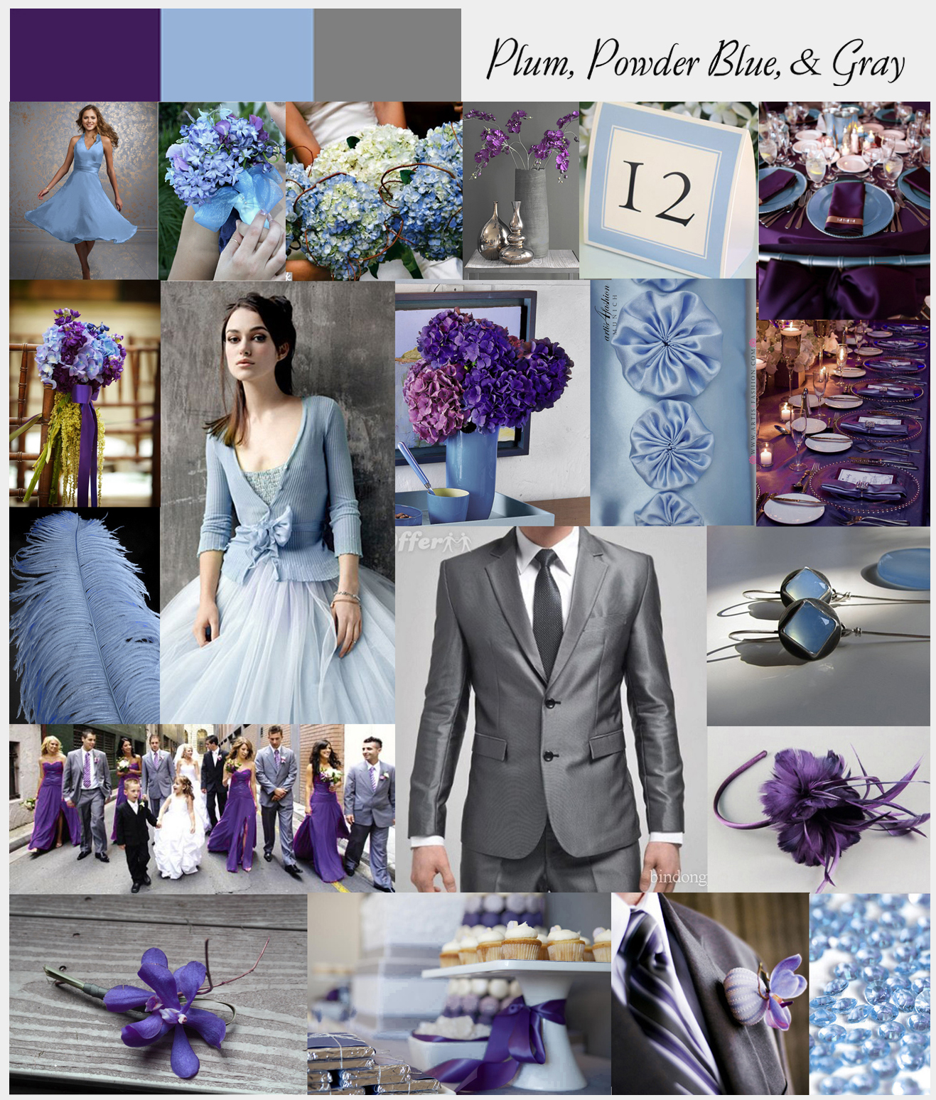plum and blue wedding colors navy