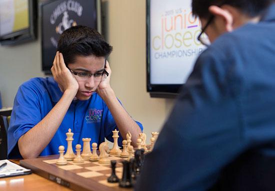 Akshat Chandra remporte le Championnat d'échecs junior des USA 2015 - Photo © Austin Fuller