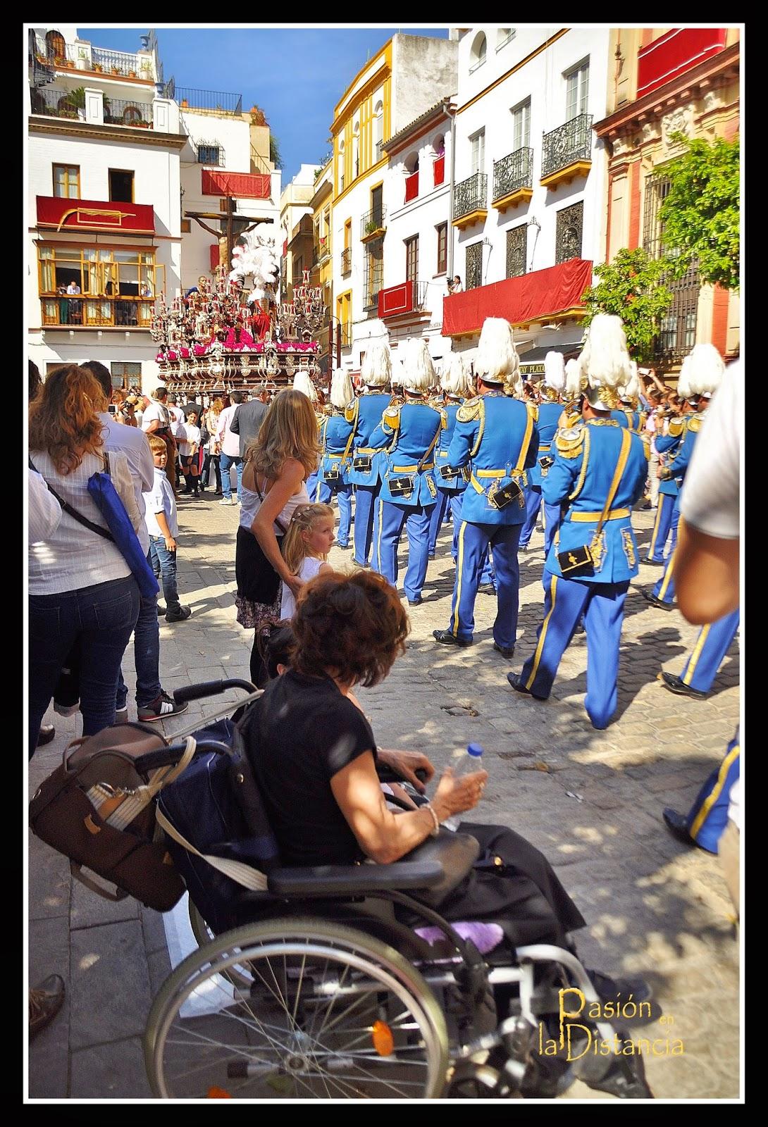 banda Sol yCristo del Desamparo y Abandono hacia Alemanes Sevilla 2015