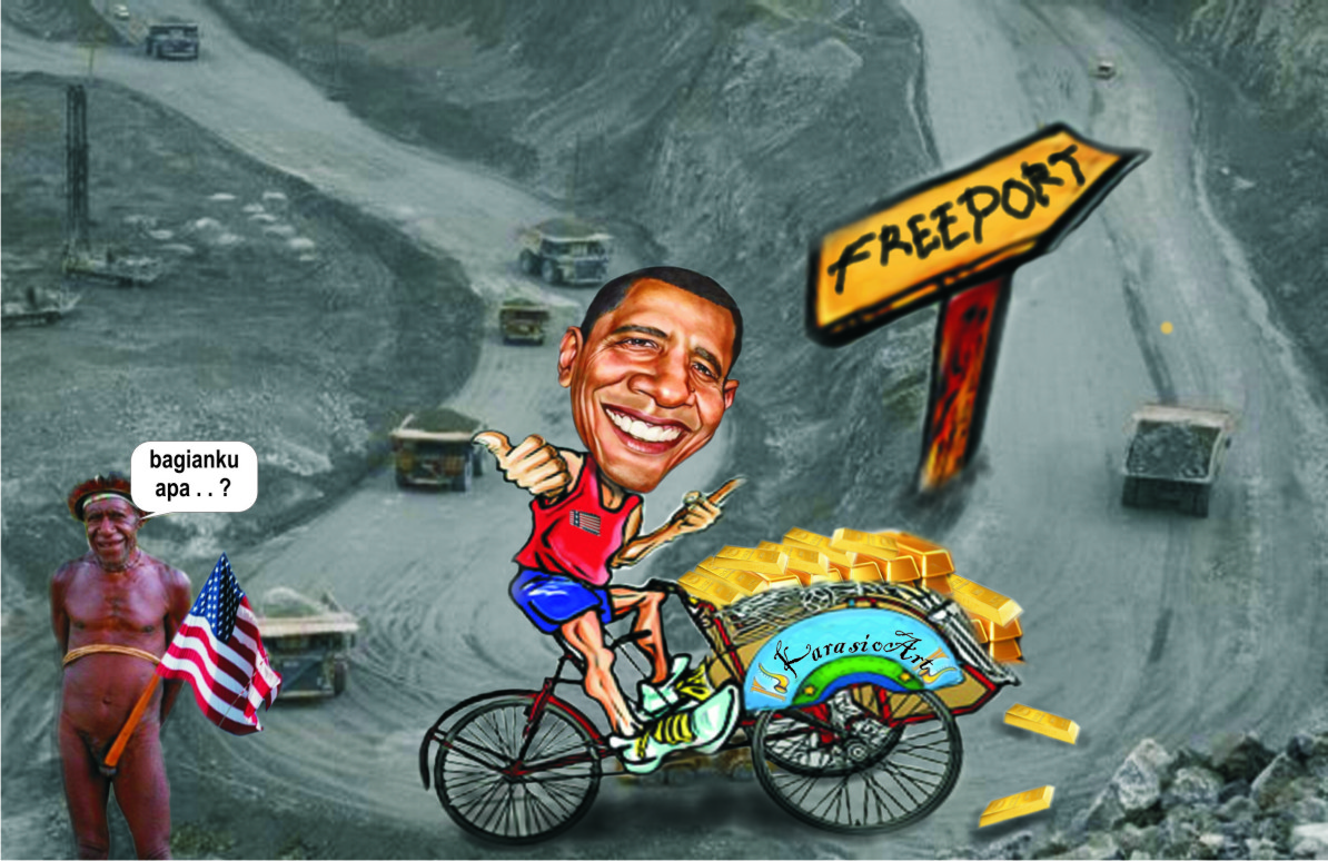 cerita bergambar freeport timika papua