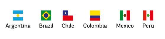 アルゼンチン ブラジル チリ コロンビア メキシコ ペルー