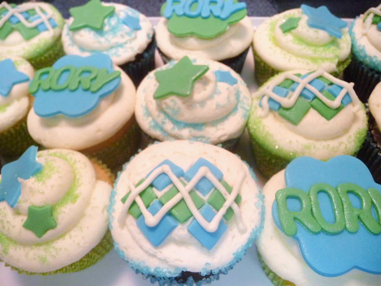 pure delights baking co baby boy shower cupcakes