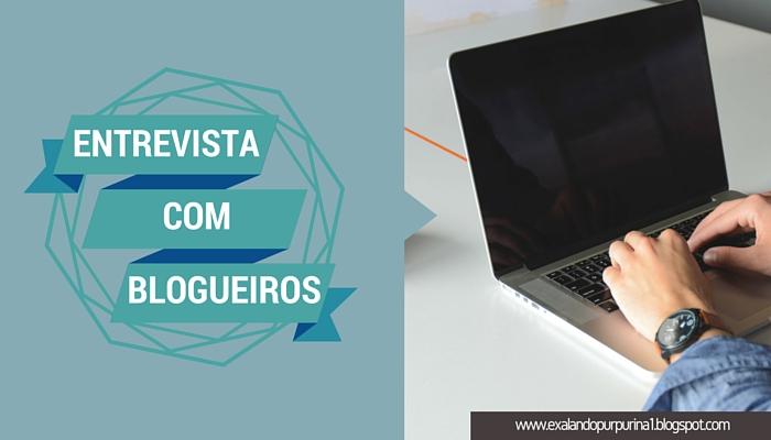 Projeto: Entrevista com blogueiros, blog exalando purpurina