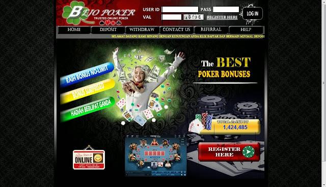 daftar judi poker online uang asli bejopoker