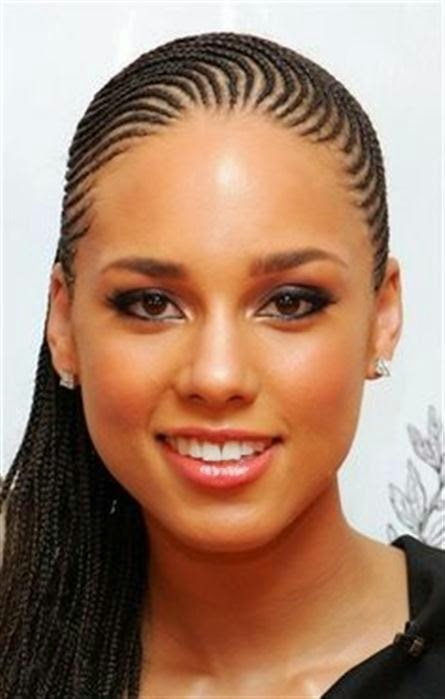 Black Braided Hairstyle Long Conro