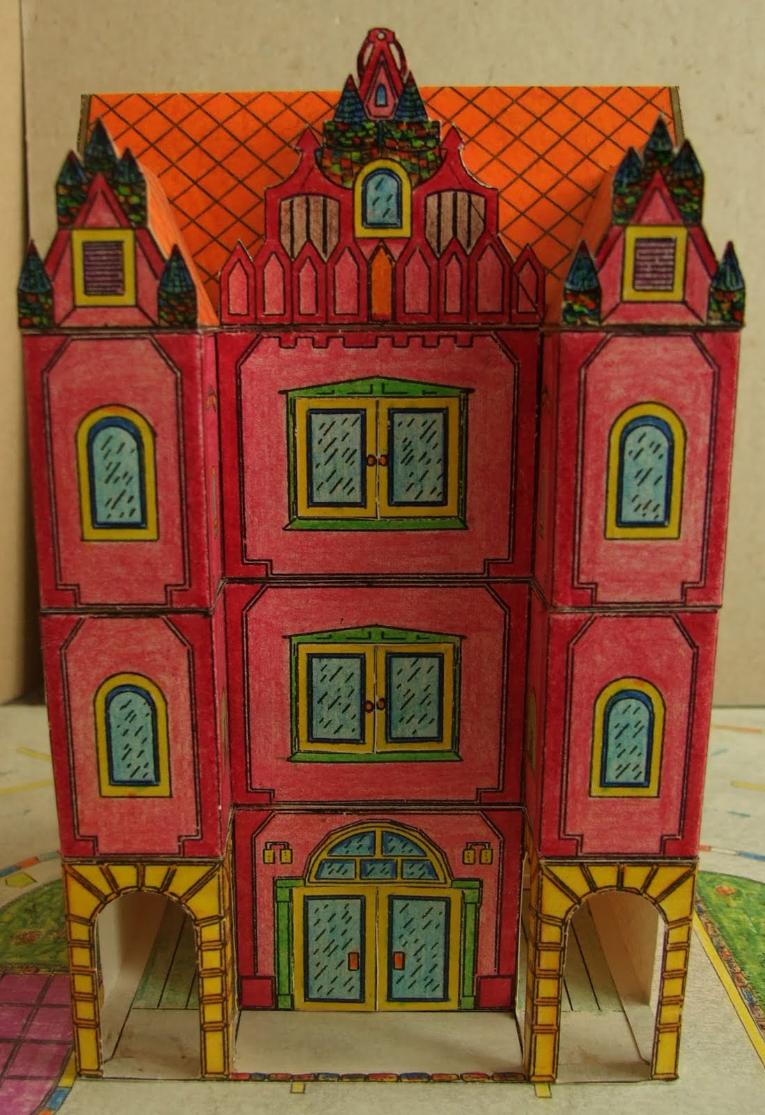 An Eastern European Style House Free Building Paper Model