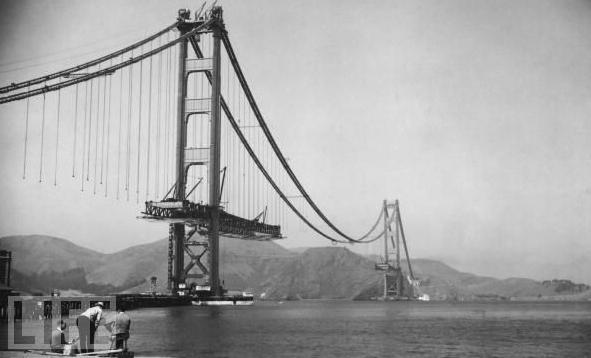 Building The Golden Gate Bridge Vintage Everyday