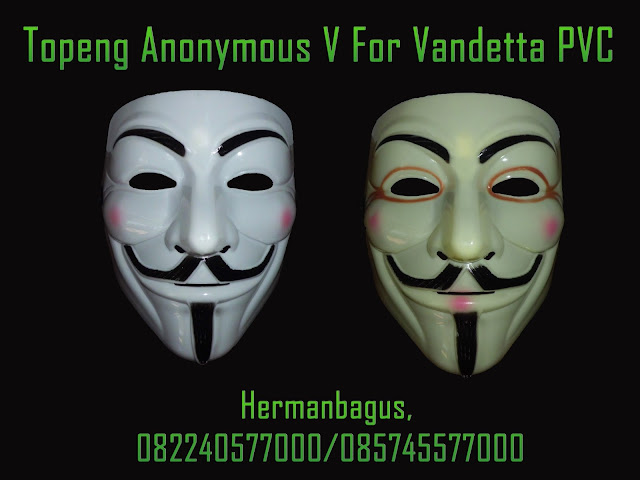 Jual Topeng Anonymous V For Vandetta PVC