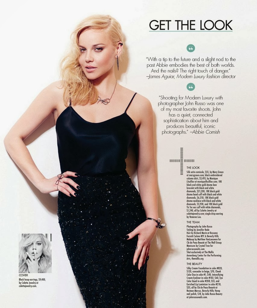 Abbie Cornish Angeleno Magazine UK Photoshoot February 2014 HQ Pictures